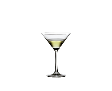 SPIEGELAU Vino Grande Martini filled with a drink on a white background