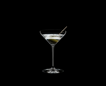RIEDEL Extreme Restaurant Cocktail filled with a drink on a black background