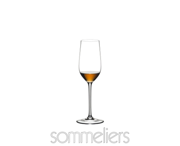 RIEDEL Sommeliers Sherry filled with a drink on a white background