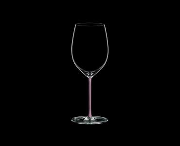 RIEDEL Fatto A Mano R.Q. Cabernet Pink on a black background