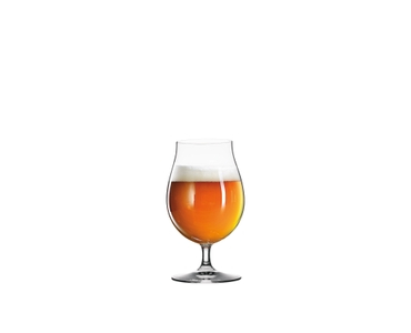 SPIEGELAU Beer Classics Beer Tulip filled with a drink on a white background