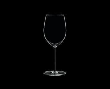 RIEDEL Fatto A Mano Cabernet/Merlot Black on a black background