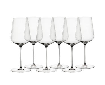 6 SPIEGELAU Definition Universal glasses stand slightly offset side by side