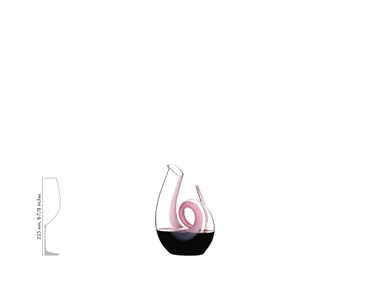RIEDEL Decanter Curly Pink R.Q. a11y.alt.product.filled_white_relation