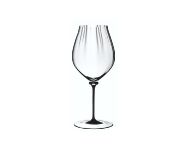 RIEDEL Fatto A Mano Performance Pinot Noir Black Stem on a white background
