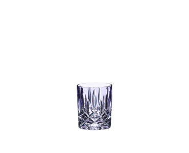 An unfilled RIEDEL Laudon Violet tumbler on white background