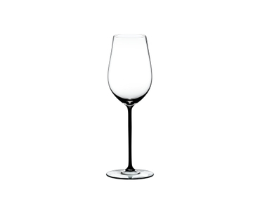 RIEDEL Fatto A Mano Riesling/Zinfandel Black R.Q. on a white background