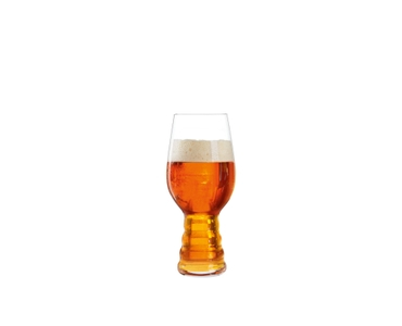 SPIEGELAU Craft Beer Glasses IPA (Set of 6) filled with a drink on a white background