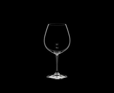 RIEDEL Restaurant Pinot Noir Pour Line CE on a black background