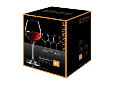 NACHTMANN Supreme Burgundy Glass in the packaging