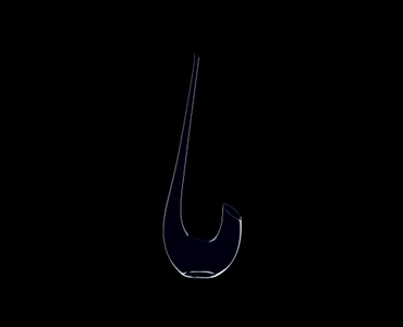RIEDEL Decanter Swan on a black background