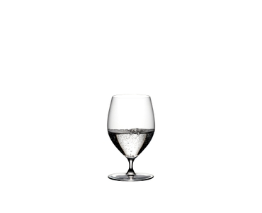 RIEDEL Veritas Water filled with a drink on a white background