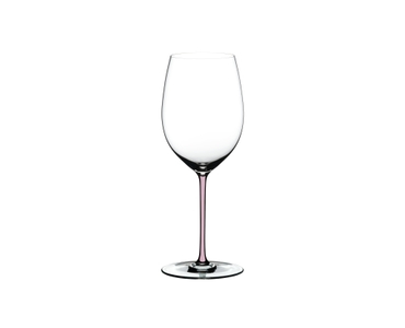 RIEDEL Fatto A Mano R.Q. Cabernet Pink on a white background
