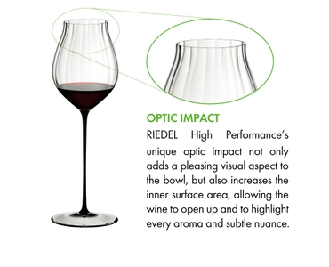 RIEDEL High Performance Pinot Noir Black on a white background