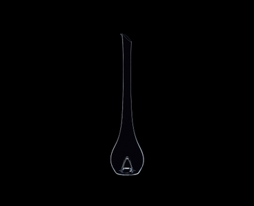 RIEDEL Decanter Flamingo on a black background