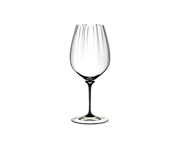 RIEDEL Fatto A Mano Performance Cabernet Black Stem on a white background