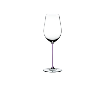 RIEDEL Fatto A Mano Riesling/Zinfandel Opal violet on a white background