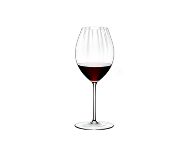 RIEDEL Performance Restaurant Shiraz filled with a drink on a white background