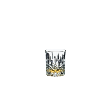 Tumbler Collection Spey Whisky filled with Wkisky on white background