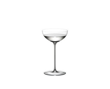 RIEDEL Superleggero Coupe/Cocktail filled with a drink on a white background
