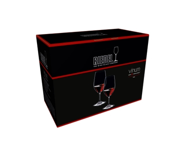 An unfilled RIEDEL Vinum Port glass on white background with product dimensions