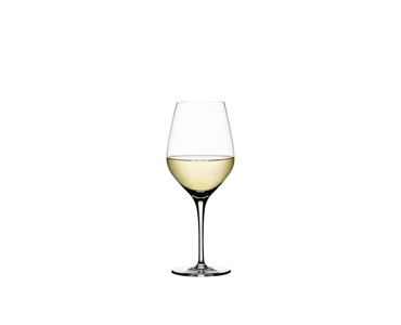 SPIEGELAU Authentis White Wine Small filled with a drink on a white background