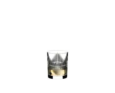 RIEDEL Tumbler Collection Shadows Tumbler filled with a drink on a white background