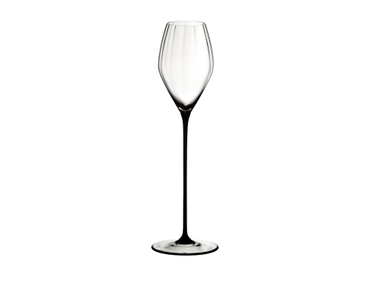 RIEDEL High Performance Champagne Glass Black on a white background
