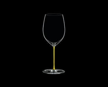 RIEDEL Fatto A Mano R.Q. Cabernet/Merlot Yellow on a black background