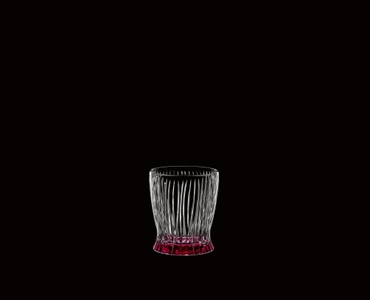 RIEDEL Tumbler Collection Fire Whisky Dawn Red on a black background