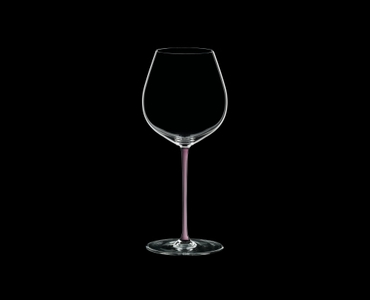 RIEDEL Fatto A Mano Pinot Noir Pink R.Q. on a black background