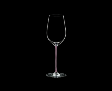 RIEDEL Fatto A Mano Riesling/Zinfandel Pink R.Q. on a black background