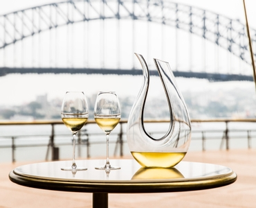 RIEDEL Decanter Black Tie Amadeo in use