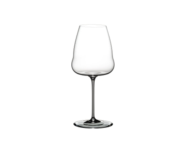 Unfilled RIEDEL Winewings Champagne Wine Glass on white background