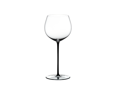 RIEDEL Fatto A Mano Oaked Chardonnay Black on a white background