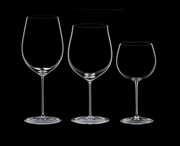 RIEDEL Sommeliers Tasting Set R.Q. on a black background