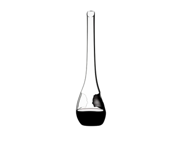RIEDEL Decanter Face To Face R.Q. filled with a drink on a white background