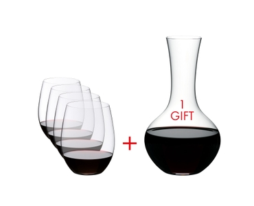 RIEDEL O + Gift filled with a drink on a white background