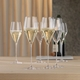 2 unfilled SPIEGELAU Definition Champagne Glasses side by side on white background