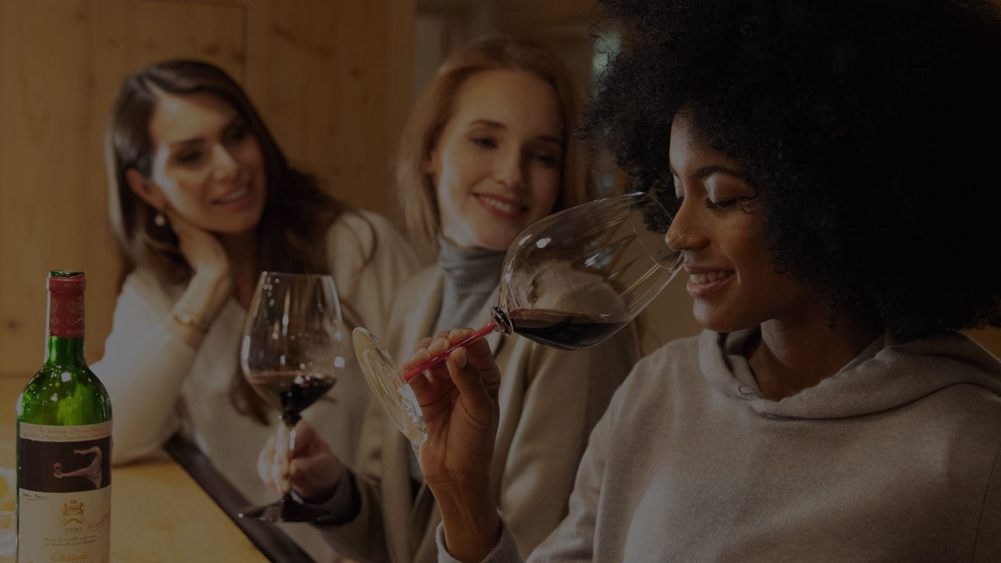 Experience the wine's smell