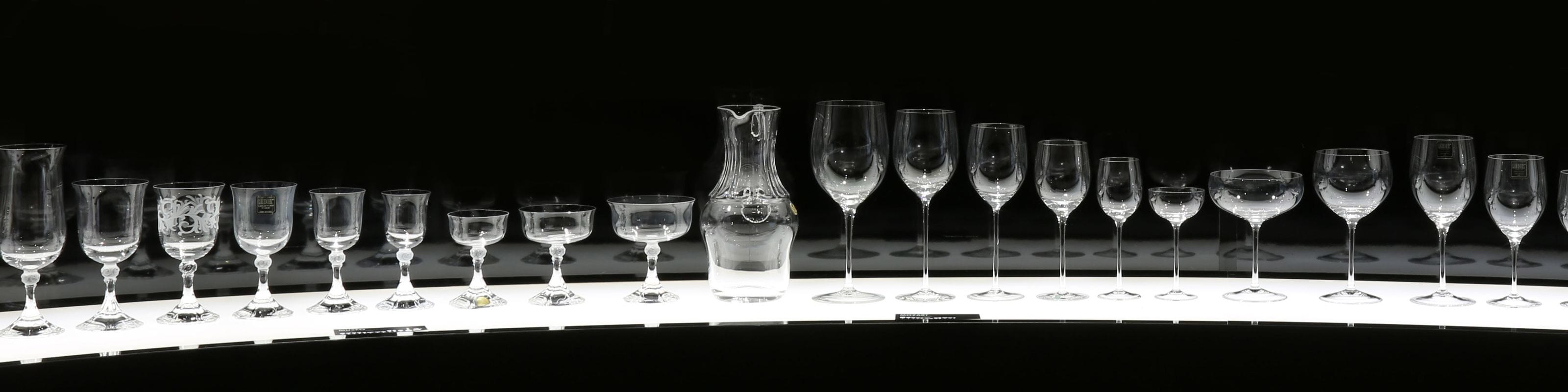 Exhibits of the RIEDEL Museum Kufstein
