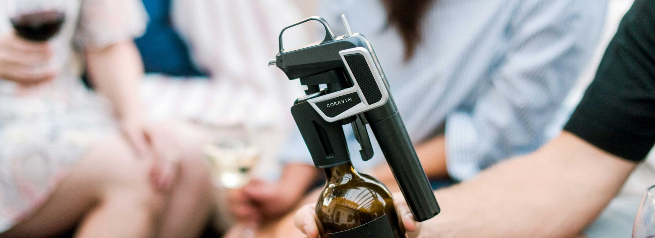 Coravin Model Two on top of a wine bottle