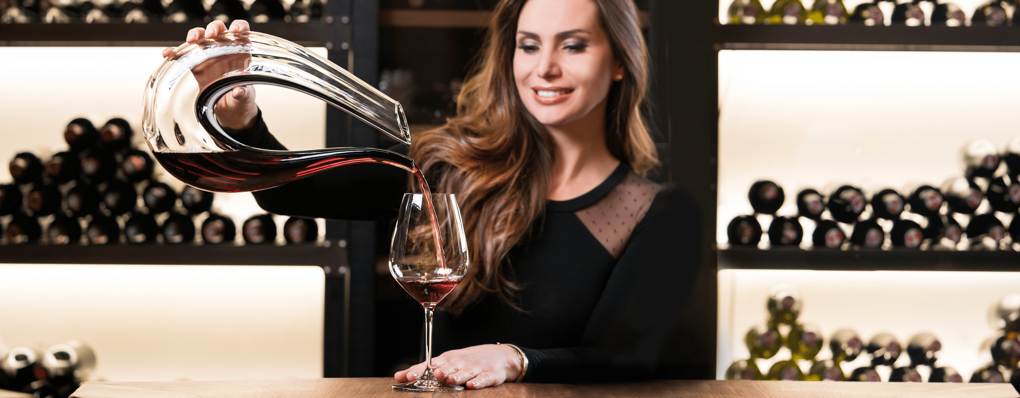 RIEDEL decanters and an Extreme Cabernet glass