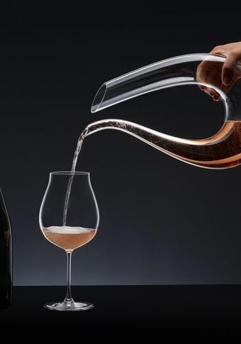 RIEDEL Decanter Amadeo and a RIEDEL Veritas Rosé Champagne glass
