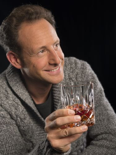 Maximilian Riedel enjoys whisky from a RIEDEL Tumbler Collection Spey Whisky glass