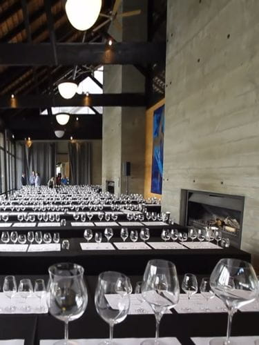 Prepared room for a RIEDEL wine glass tasting