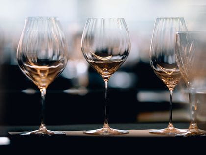 A collection of RIEDEL Performance glasses