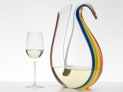 RIEDEL Decanter Ayam Magnum Rainbow and RIEDEL Veritas Riesling/Zinfandel