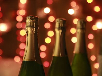 Pexes image: three bottles of champagne or sparkling wine
