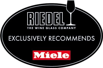 RIEDEL The Wine Glass Company exclusively recommends Miele